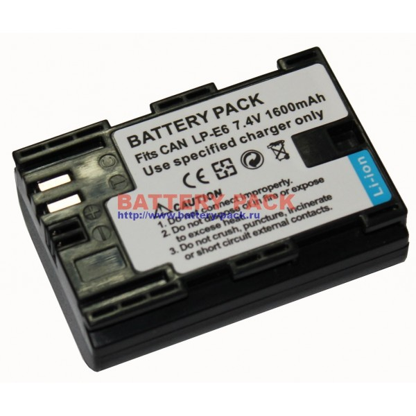 Аккумуляторная батарея CANON LP-E6: http://battery-pack.ru/product.php?id_product=1021045