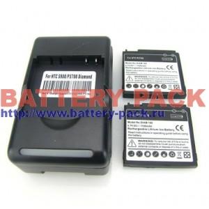 2шт батареи 1100мАч + 1 зарядное для HTC Touch Diamond,P3700,P3701,P3702,P3100,Dopod S900,S910W, HTC S900,O2 XDA Ignito
