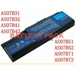 Батарея для  Acer AS07B31 AS07B32 AS07B41 AS07B42 AS07B51 AS07B52 AS07B71 AS07B72